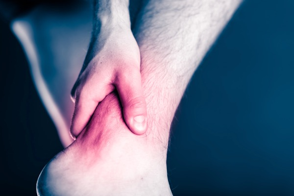 Sport injury treated by Hosford Health Clinic osteopath; painful leg and ankle injury